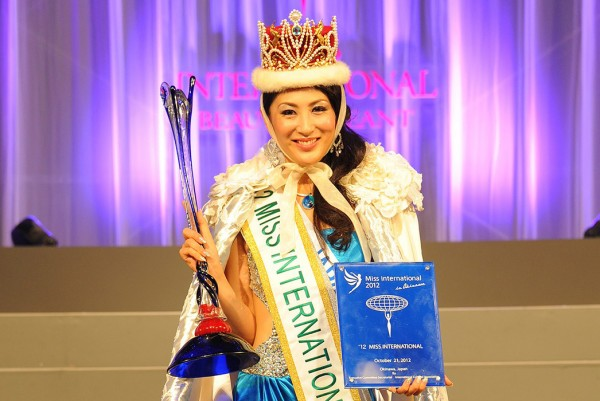 Miss International 2012 winner Japan Ikumi Yoshimatsu