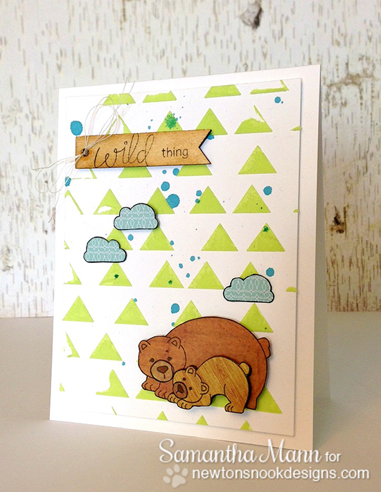 Wild Thing Bear Card by Samantha Mann for Newton's Nook Designs | Wild Child Stamp Set