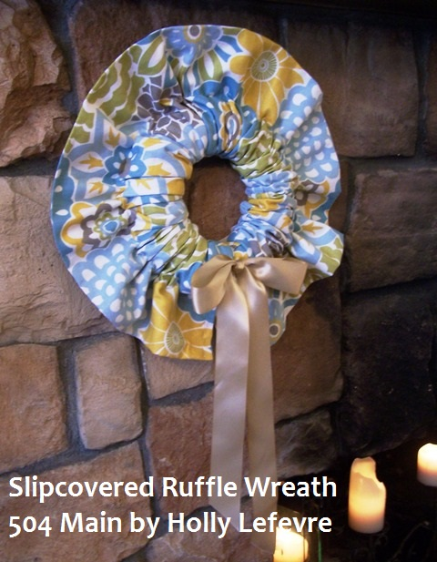 Slipcovered Ruffle Wreath