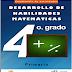 Cuadernillo de actividades de matemáticas para Cuarto Grado
