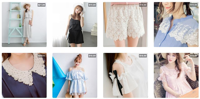 Yumart sells tons of cute Asian fashion from brands like Tokyo Fashion, with adorable ulzzang-esque styles and flowy, lacey tops.
