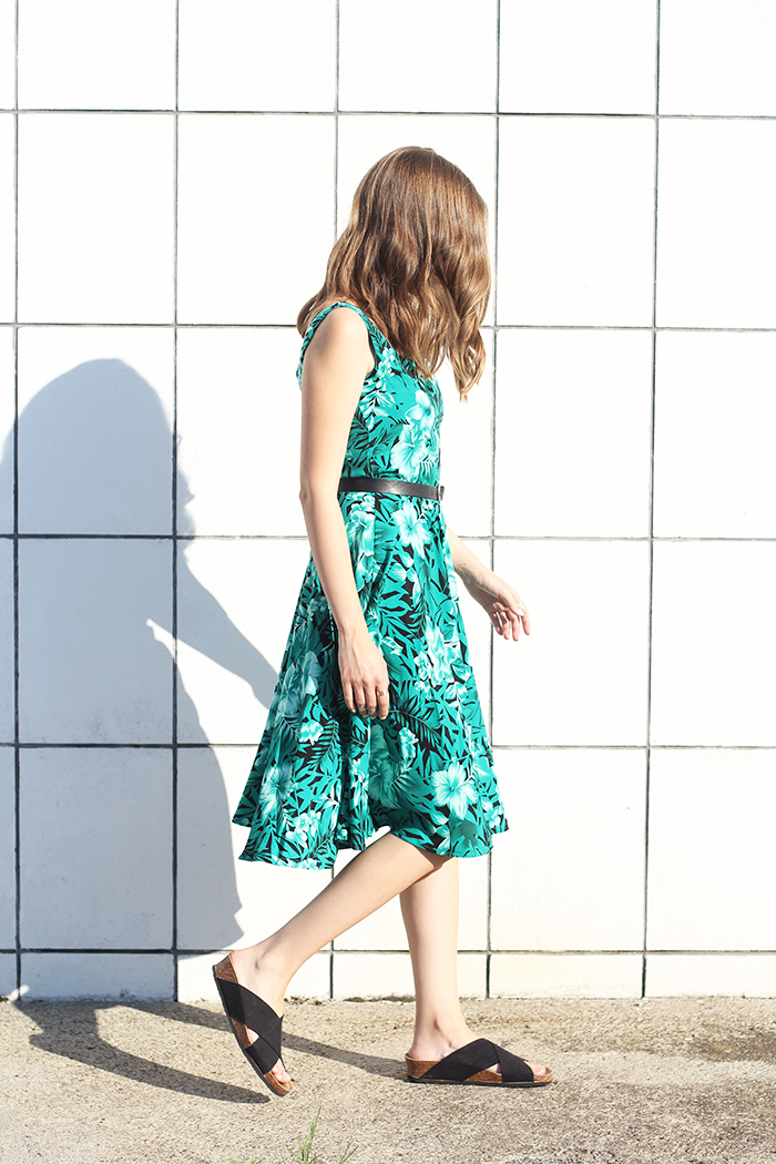 Printed Dress With Wide Straps