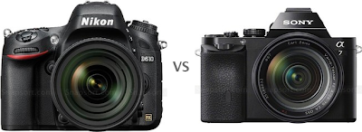 Nikon D610 VS Sony A7, Nikon new DSLR camera, new full frame camera, Sony A7, Canon EOS 6D