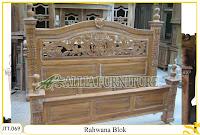 Tempat tidur kayu jati ukir jepara Rahwana Blok murah.Jakarta