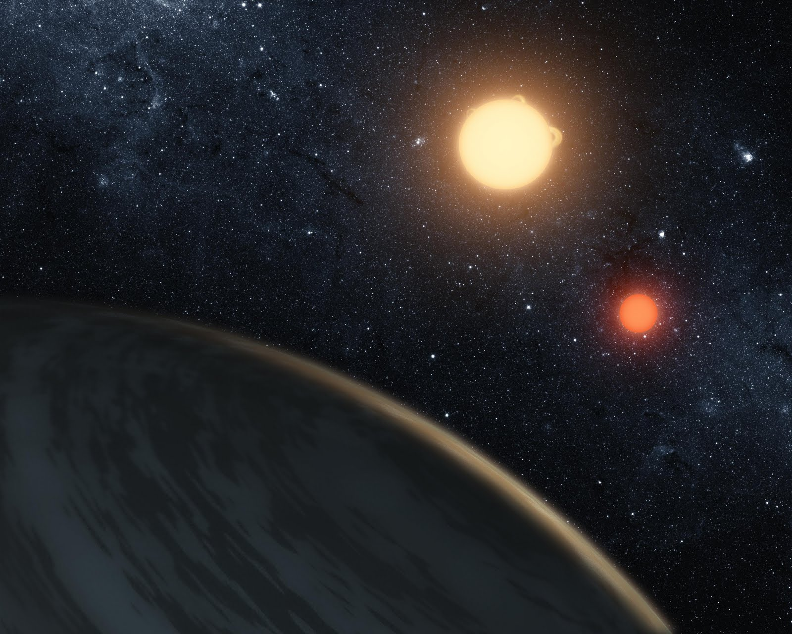 Planet with Two Suns wallpaper 1080p