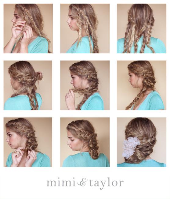 Причёски на средние волосы в домашних условиях своими руками на 1 сентября