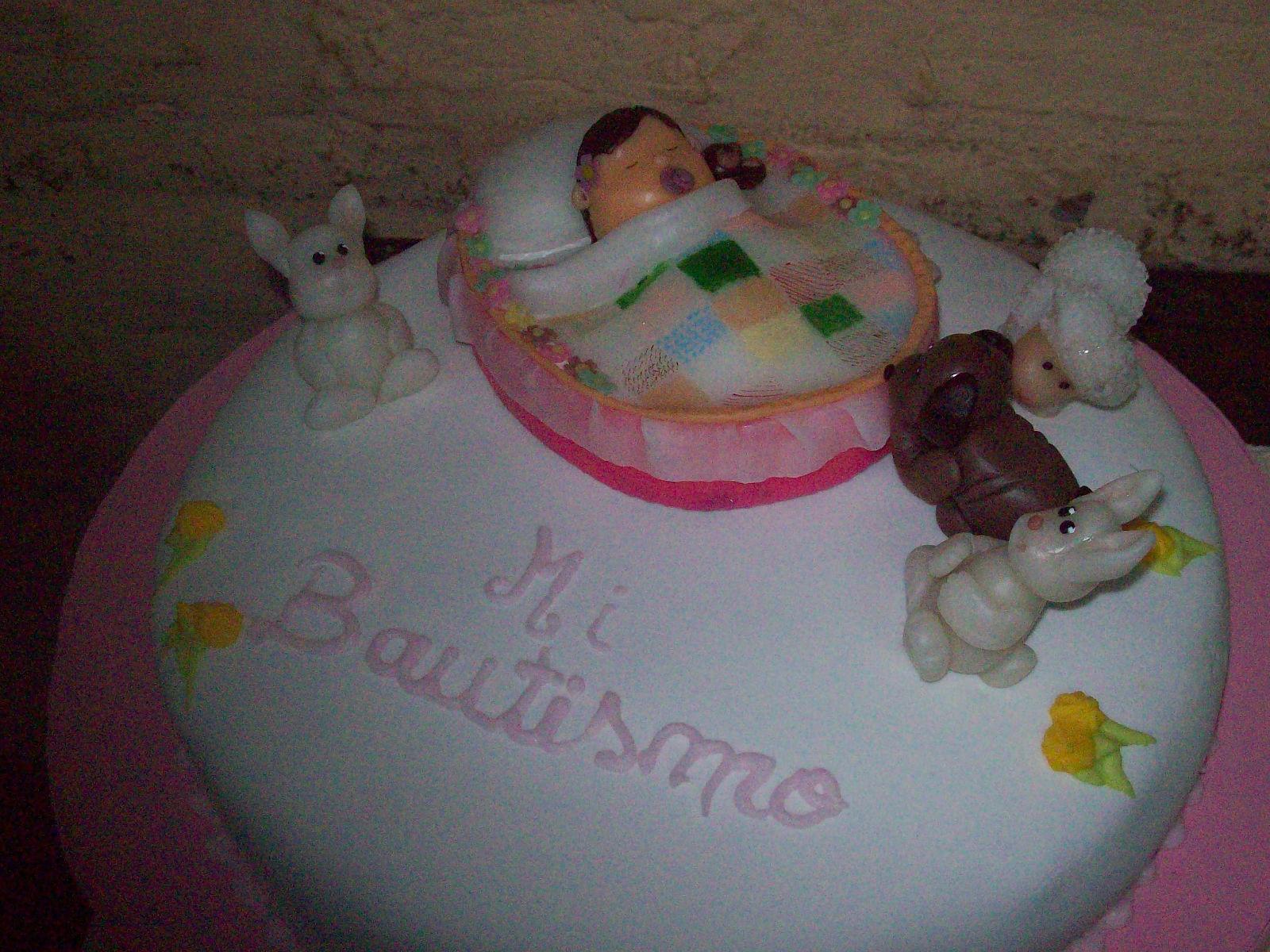 torta de bautismo para nena tambien puede cambiarse para varon ...