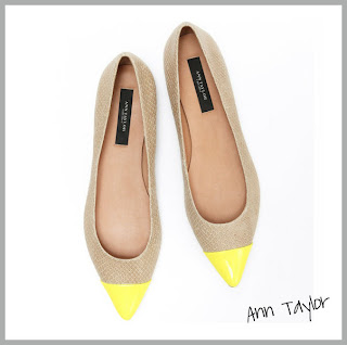 Yellow Cap Toe Flats