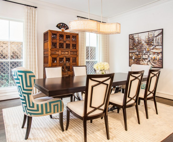 traditional dining table room modern chairs transitional interior design tips