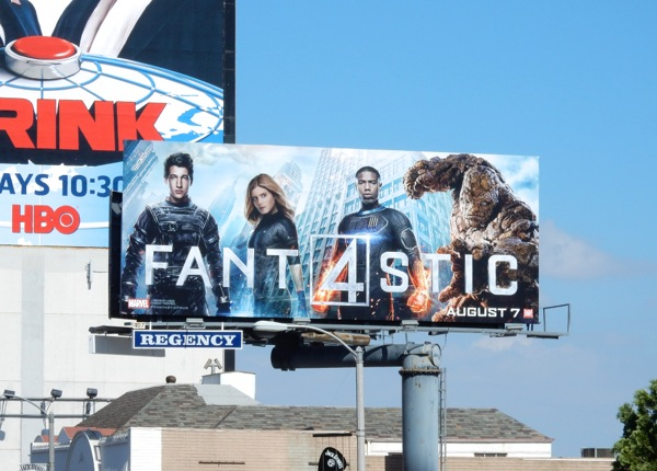 Fantastic 4 movie remake billboard