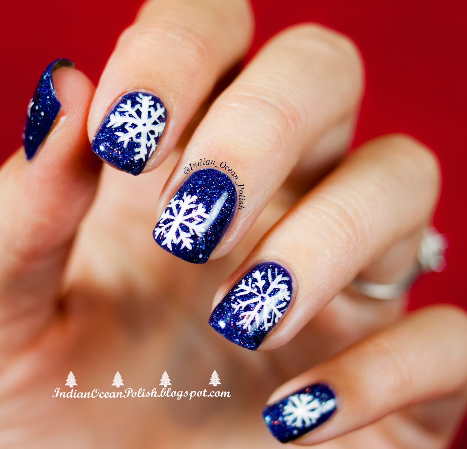 Easy snowflake nail designs prinsesfo Image collections