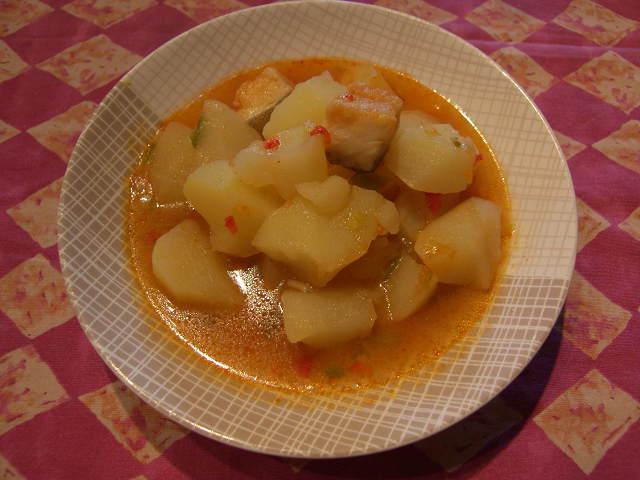 Can joan i sara patatas con daditos de bacalao - Patatas en caldo con bacalao ...