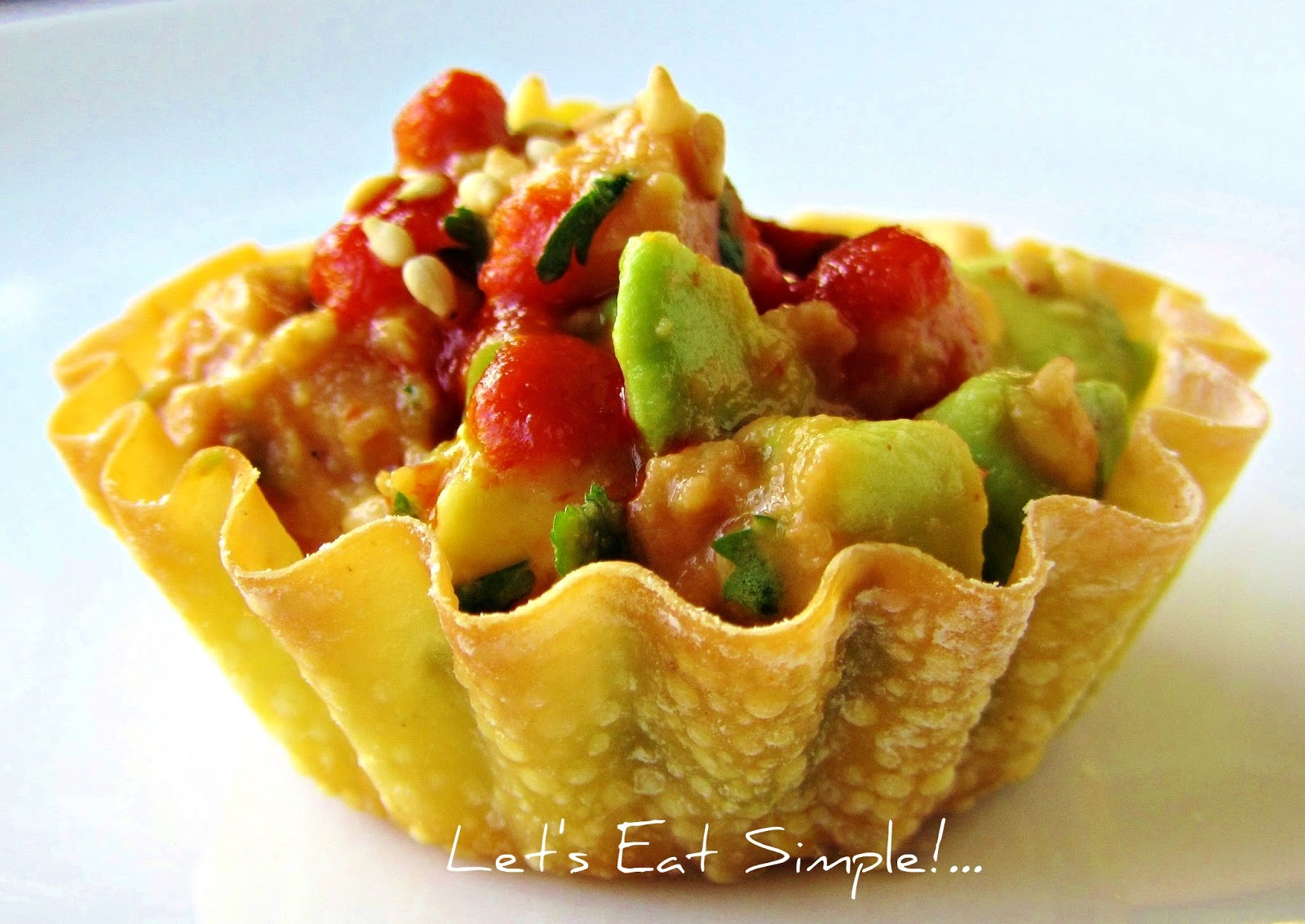 Let's eat.....simple!: Spicy Tuna & Avocado Ceviche Mini Cups