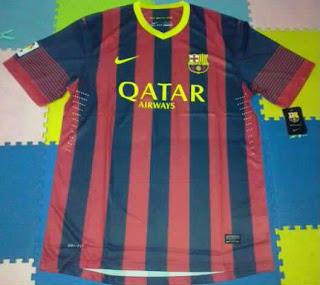 Leaked Jersey Grade Ori Barcelona Home season 13/14