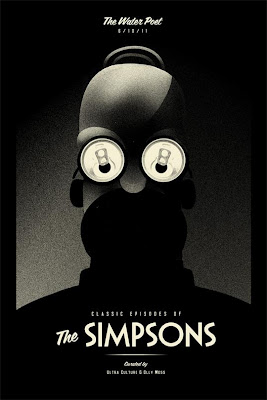 The Simpsons Poster by Olly Moss