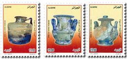 Algeria: Antique Glassware - http://www.poste.dz/