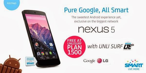 Google Nexus 5 now available on Smart Postpaid Plan
