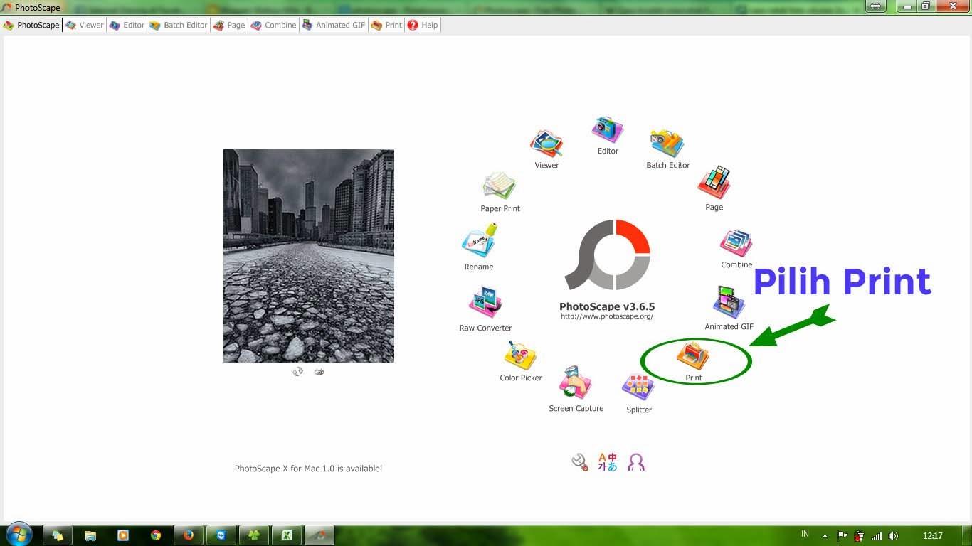 Cara mudah cetak foto ukuran formal dengan PhotoScape