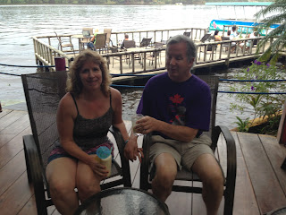 Mike and Gena at a Pachira bar