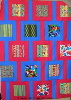 Modern Chain quilt top - Marie