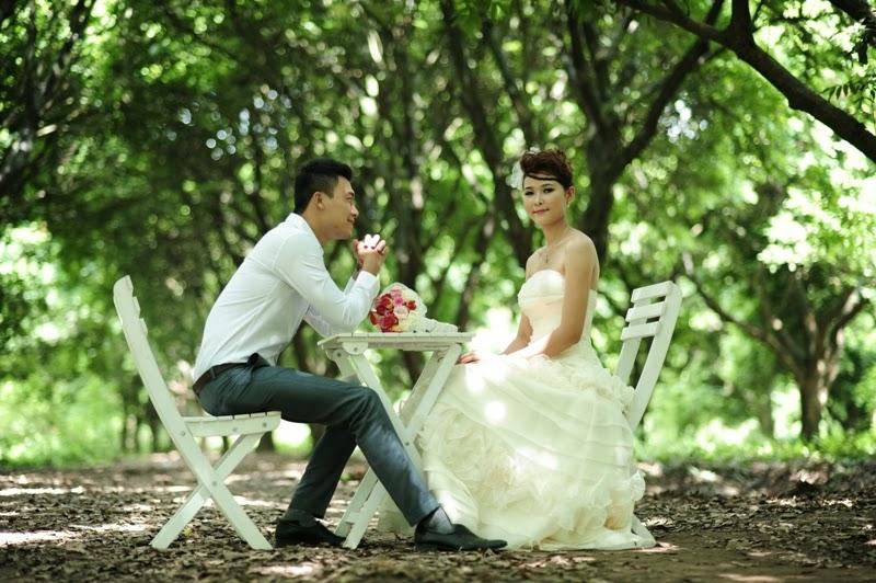 Chụp ảnh cưới ở Vườn Nhãn Gia Lâm
