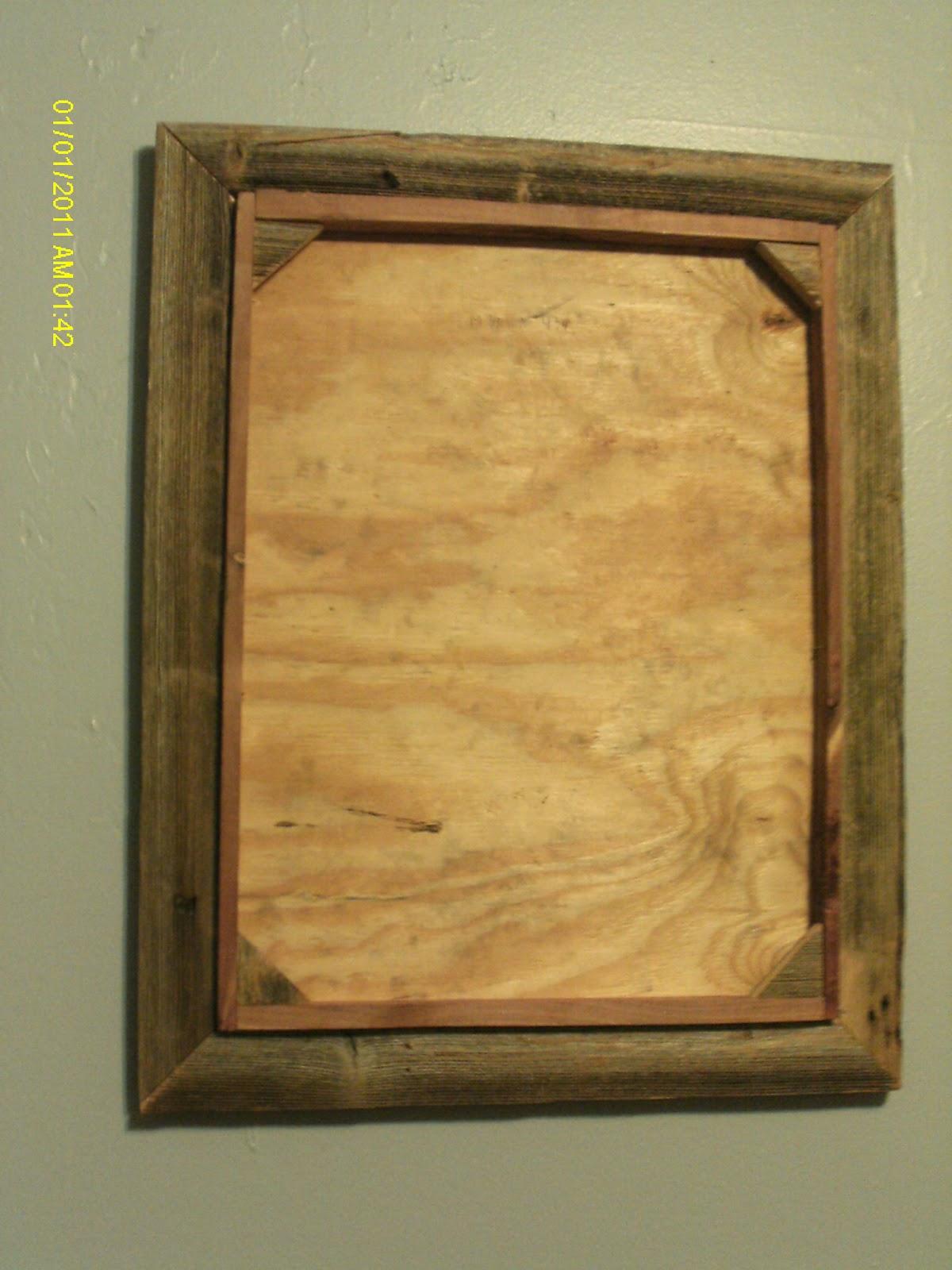 Handmade Rustic & Log Furniture: Barnwood Picture Frames, 2 Pine Bar ...