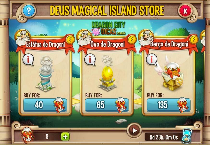 Adquira Recompensas - Ilha Mágica de Deux