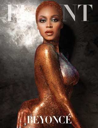 Beyonce naked on magazine cover