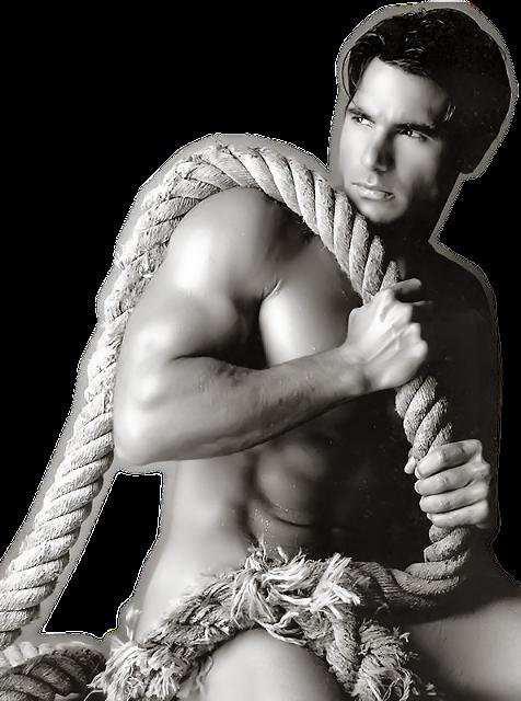 hombres guapos y cachas desnudos: