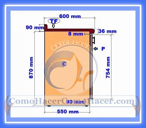 Muebles cocina plano mueble bajo web del bricolaje for Planos de roperos de melamina pdf