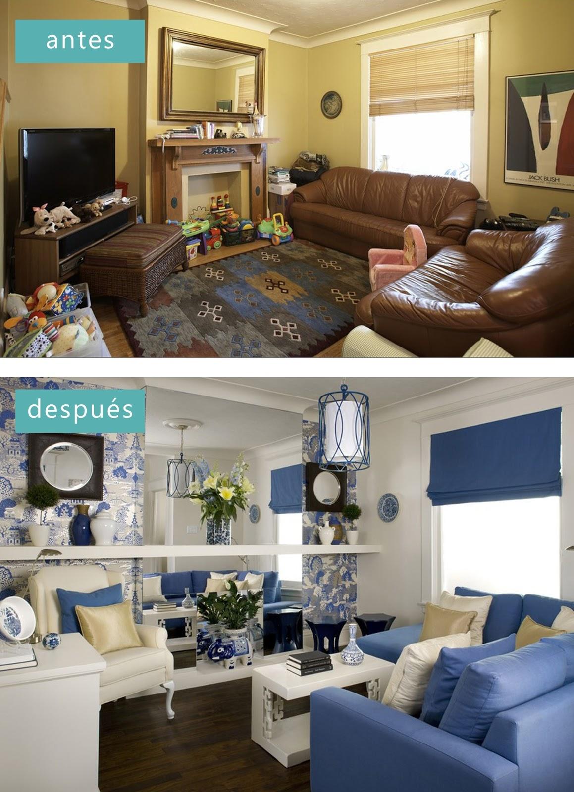 Salon con chimenea y television decorar tu casa es for Programas de decoracion de casas