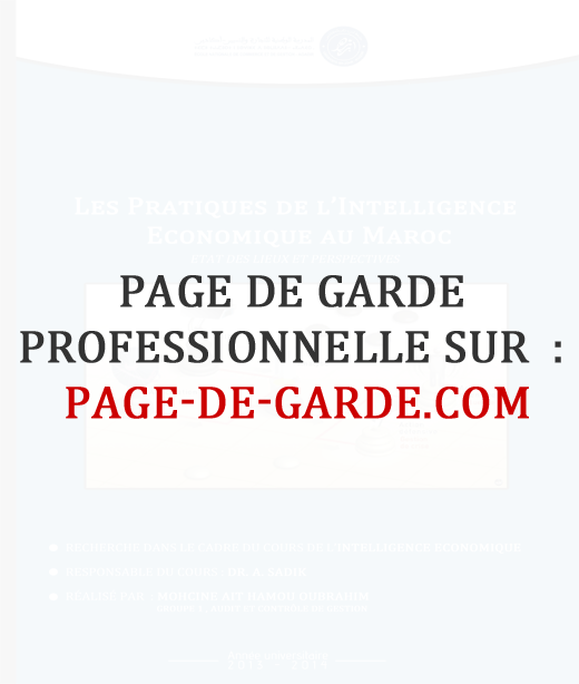 couverture rapport de stage word