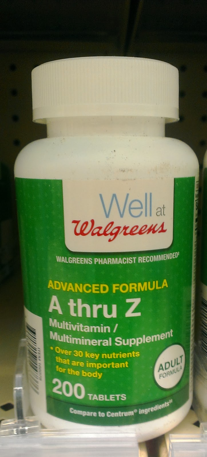 Well at Walgreens A thru Z Multivitamin