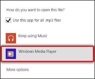 select windows media player