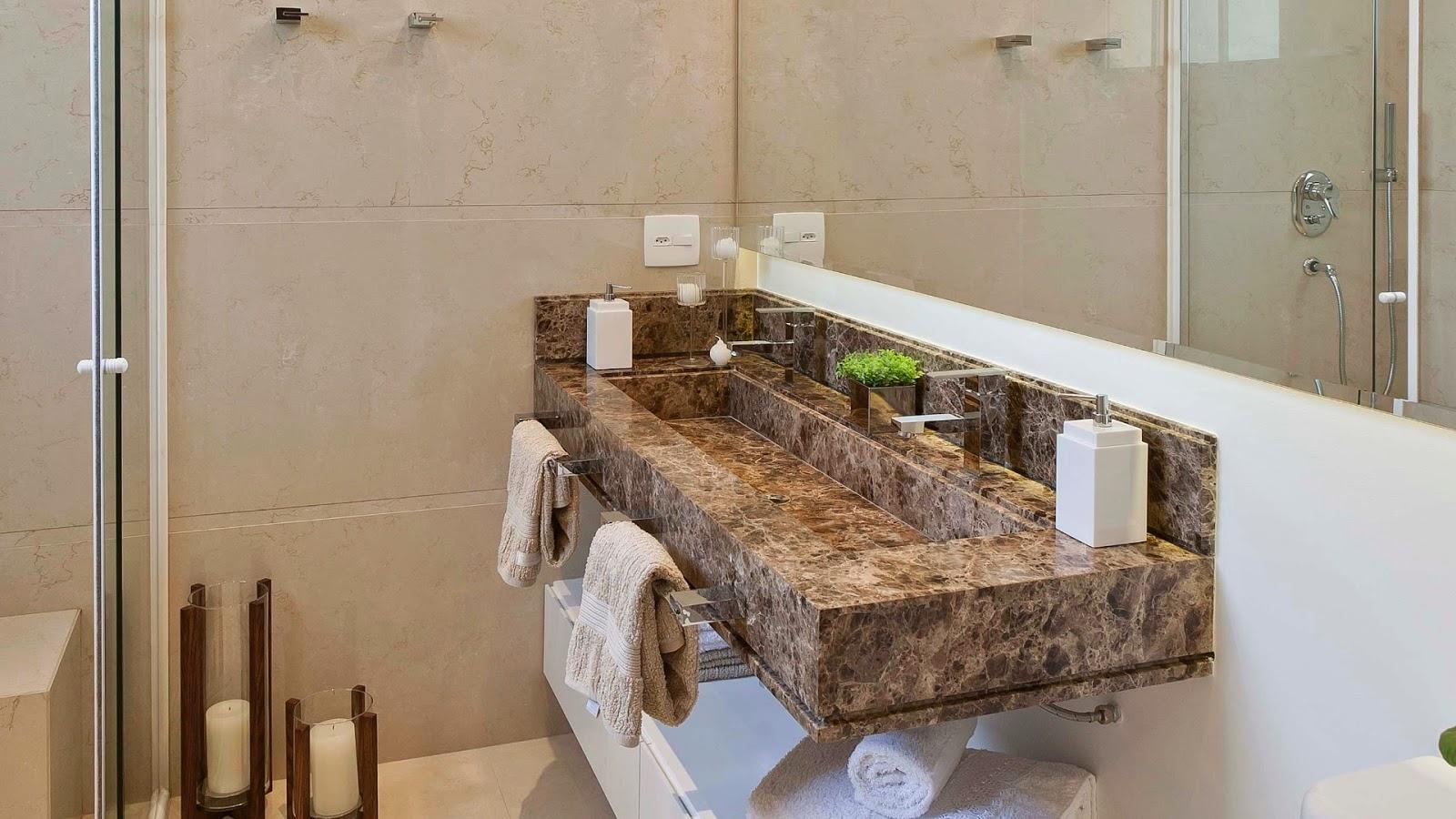 Tipos de cubas para banheiro veja os prós e os contras! Decor  #412C1C 1600x900 Banheiro Com Granito Marrom Imperial