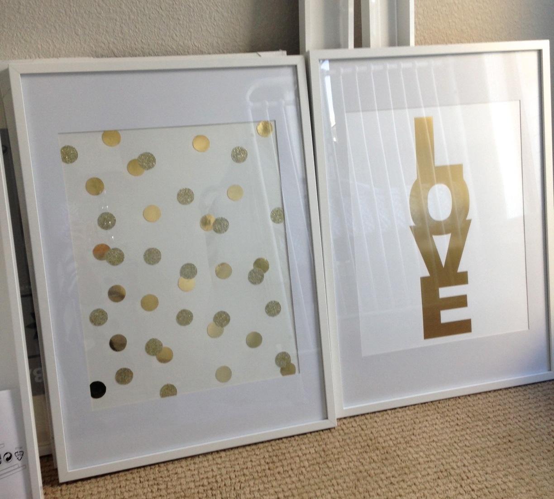 Polka Dot Bedroom Diy Gold Polka Dot Art Perfect For A Nursery Bedroom Or Any Room