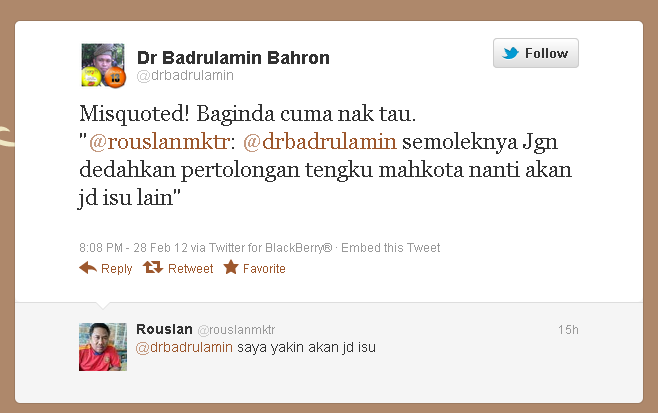 "Malaysiakini heret raja untuk cover line Badrul ""Burit"""