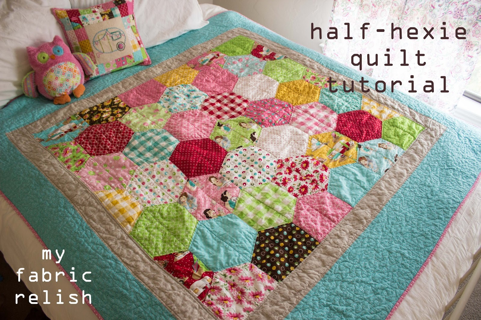 Half Hexagon Quilt Pattern Www Imgkid Com The Image
