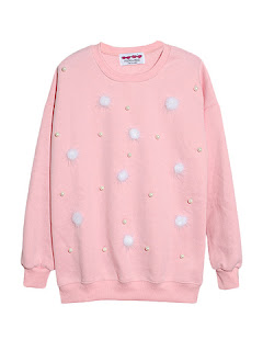 Koleksi terbaru sweater cewek warna pink lucu dan imut