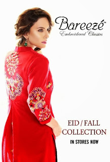 Embroidered Dresses Bareez Winter Collection