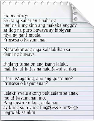 A Funny Story  - Tagalog Funny Stories