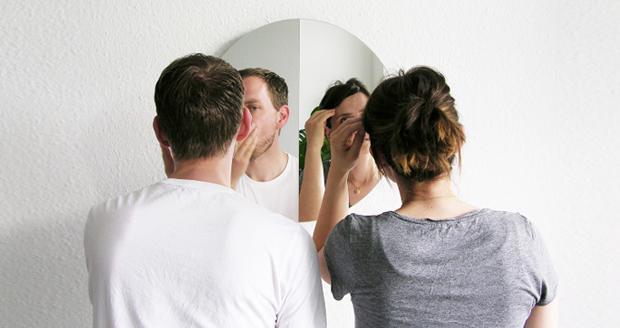 Mirror 180 Half Half