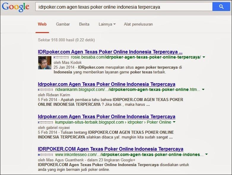 Daftar Calon Pemenang Kontes SEO IDRPoker.com - Dicoba.info : Kalau tidak dicoba, mana tau!