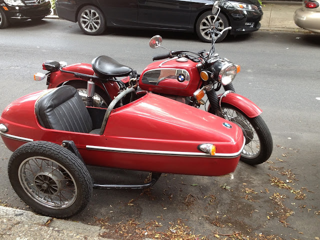 Vintage BMW Motorcycle and Sidecar