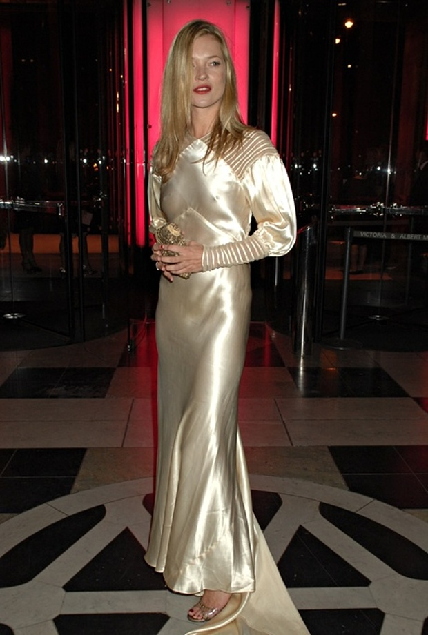 Kate Moss in vintage Dior dress