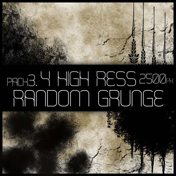 hr random grunge brush pack 3 by viuff d375kfk 30 Must Have Grunge Photoshop Brushes Collection Set