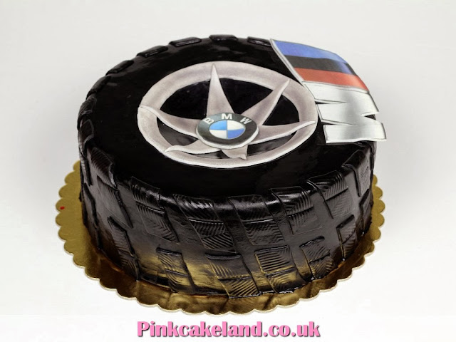 BMW Tire Birthday Cake in London