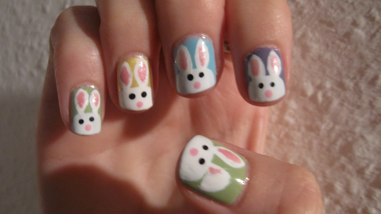 Fanning the Fumes - A Nail Art Blog: Happy Easter (Bunnies)! In June!