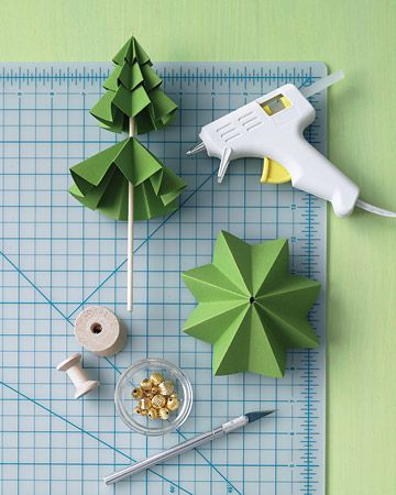 Craft Ideas  Room on Christmas Craft Tiny Pine Trees Paper Craft Tutorial Steps