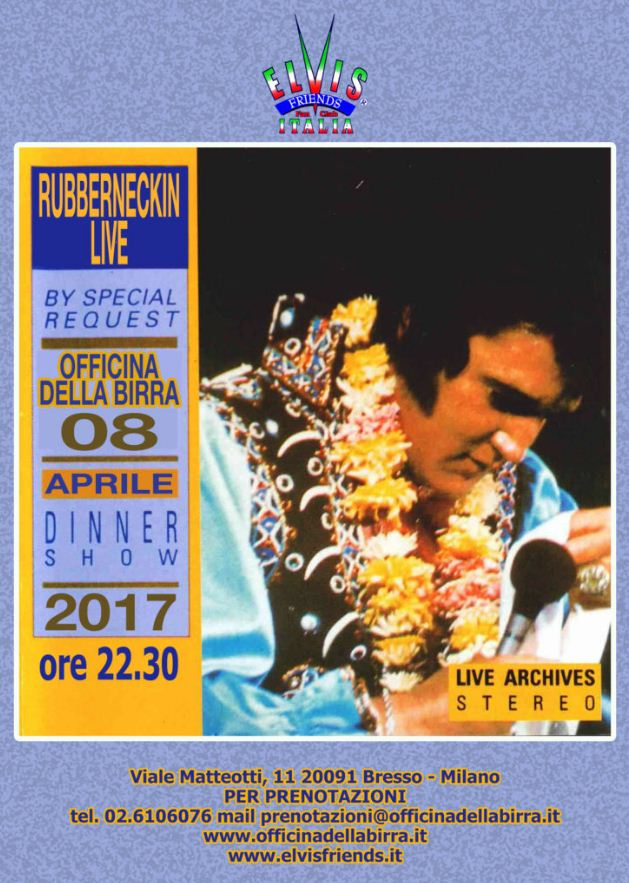 RUBBERNECKIN LIVE- Elvis Tribute